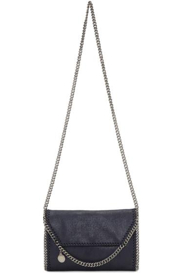 Stella McCartney - Navy Mini Folded Falabella Bag