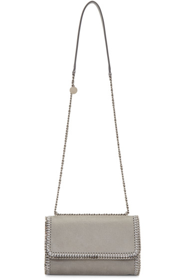 Stella McCartney - Grey Chained Flap Shoulder Bag