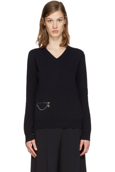 Stella McCartney - Navy Wool Chained Sweater