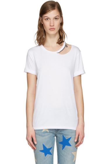 Stella McCartney - White Cut-Out Chain T-Shirt