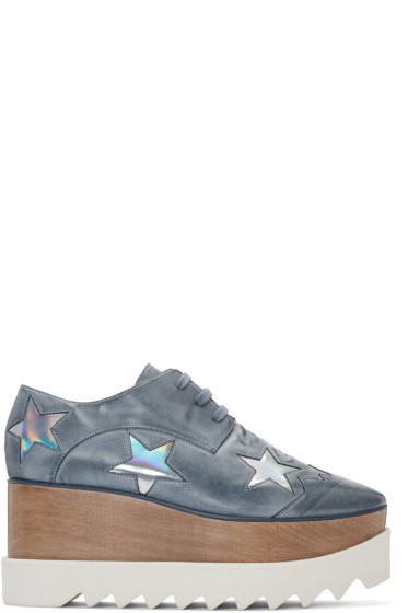 Stella McCartney - Blue Platform Star Elyse Derbys