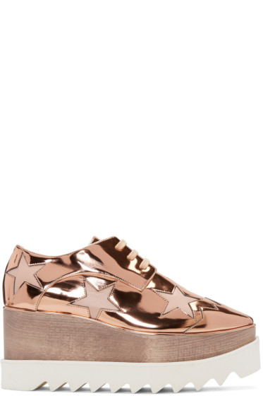 Stella McCartney - Copper Star Platform Elyse Derbys