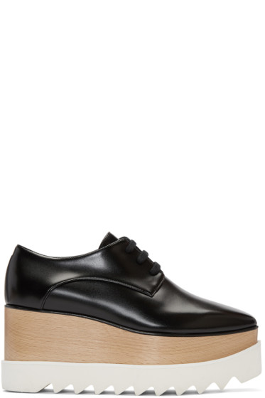 Stella McCartney - Black Platform Elyse Derbys