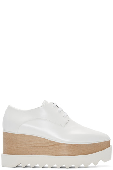 Stella McCartney - White Platform Elyse Derbys