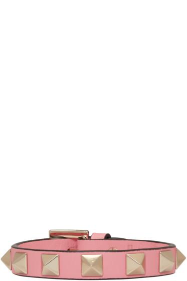 Valentino - Pink Rockstud Bracelet