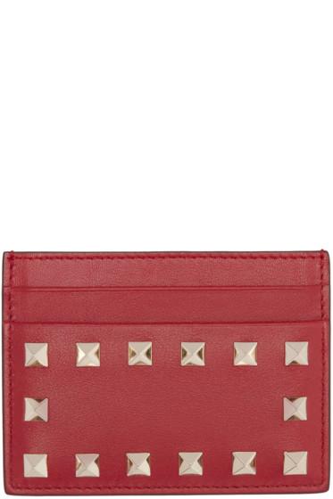 Valentino - Red Rockstud Card Holder