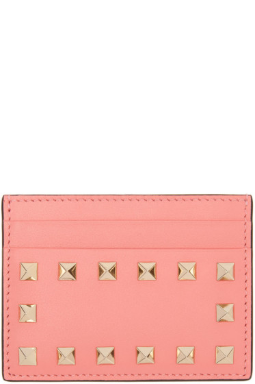 Valentino - Pink Rockstud Card Holder