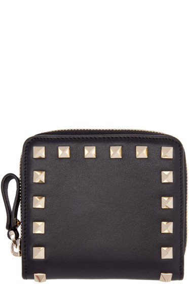 Valentino - Black Small Rockstud Wallet