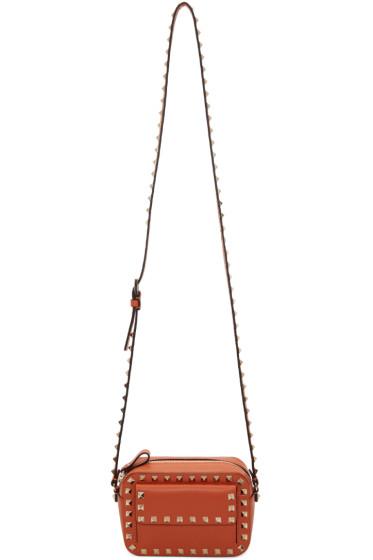 Valentino - Orange Small Rockstud Crossbody Bag