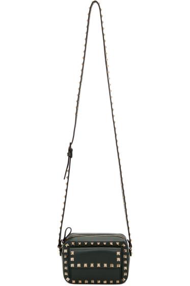 Valentino - Green Small Rockstud Crossbody Bag