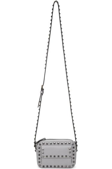 Valentino - Grey Small Rockstud Crossbody Bag