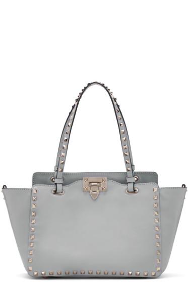 Valentino - Grey Small Rockstud Tote