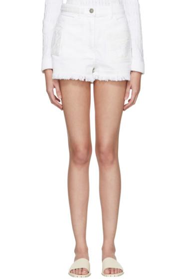 Valentino - White Denim Butterfly Shorts