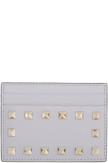 Valentino - Grey Rockstud Card Holder