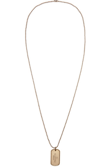 Valentino - Gold Dog Tag Necklace