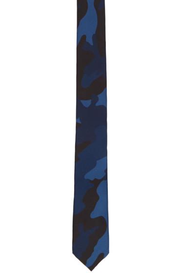 Valentino - Blue Camo Tie