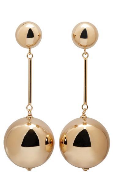 J.W.Anderson - Gold Sphere Drop Earrings