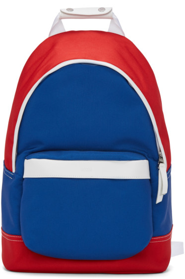 AMI Alexandre Mattiussi - Blue & Red Colorblock Backpack