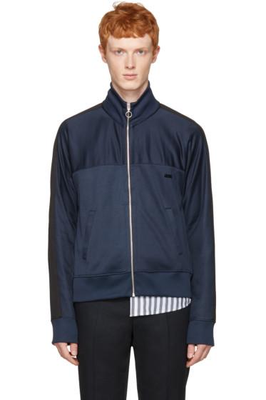 AMI Alexandre Mattiussi - Navy Track Zip-Up Pullover