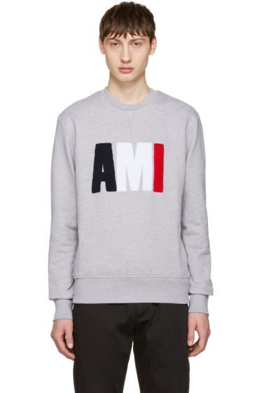 AMI Alexandre Mattiussi - Grey Logo Pullover