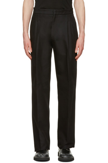 Calvin Klein Collection - Black Oversized Radial Trousers