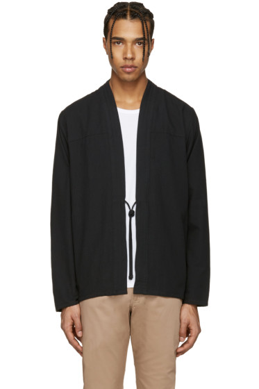 Naked & Famous Denim - SSENSE Exclusive Black Triple Wash Kimono Shirt