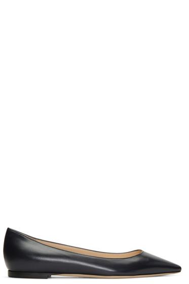 Jimmy Choo - Navy Leather Romy Ballerina Flats