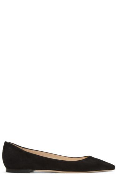 Jimmy Choo - Black Suede Romy Ballerina Flats