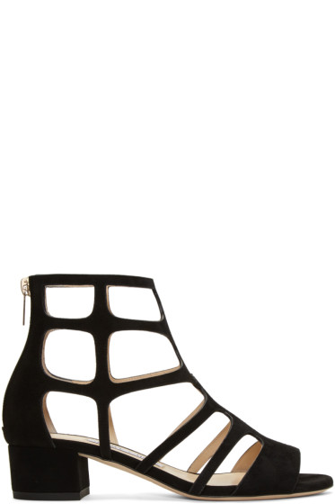Jimmy Choo - Black Suede Ren Sandals