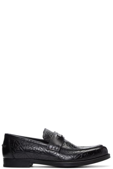 Jimmy Choo - Black Star-Embossed Darblay Loafers