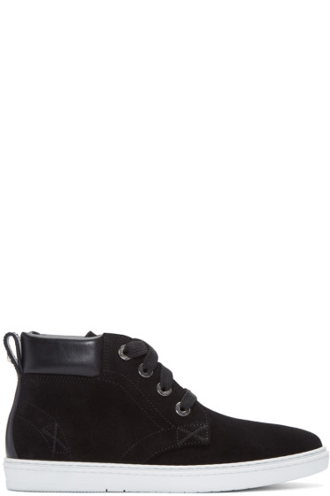 Jimmy Choo - Black Suede Smith High-Top Sneakers