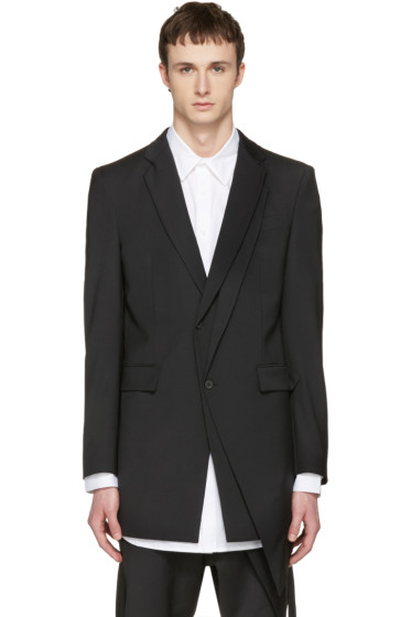 D.Gnak by Kang.D - Black Layered Blazer