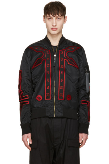 Marcelo Burlon County of Milan - Black Alpha Industries Edition Manuel MA-1 Bomber Jacket