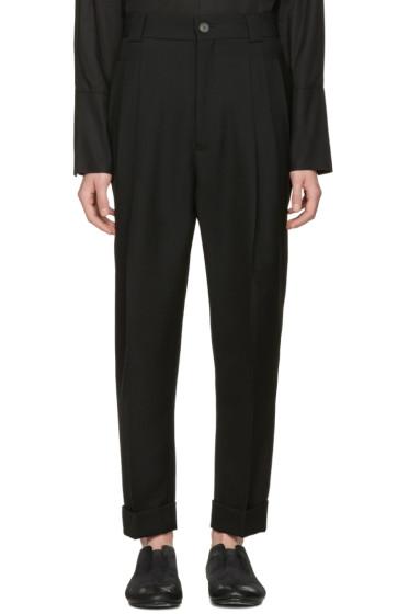 Haider Ackermann - Black Wool Pleated Trousers
