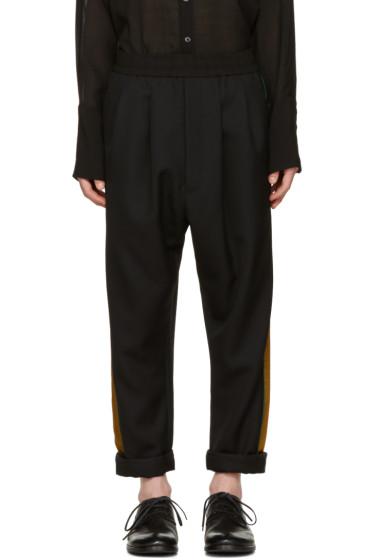 Haider Ackermann - Black Stripe Trousers