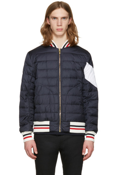 Moncler Gamme Bleu - Navy Quilted Bomber Jacket