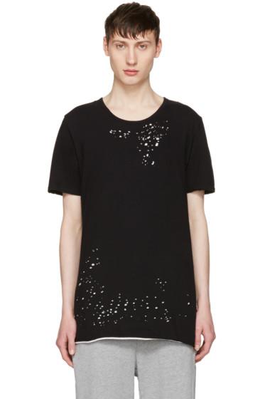 Miharayasuhiro - Black Distressed T-Shirt