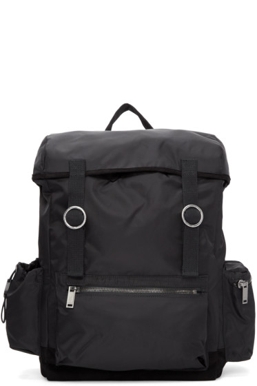 Christian Dada - Black Signature Nylon Backpack