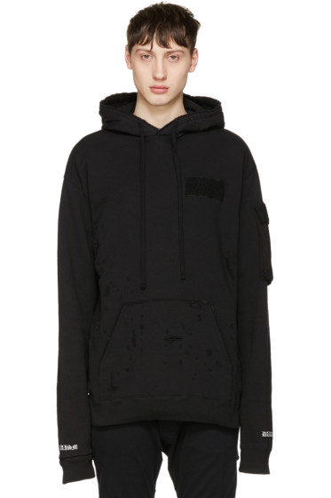 Christian Dada - Black Damaged Hoodie
