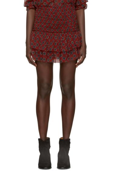 Isabel Marant Etoile - Burgundy Brinley Miniskirt
