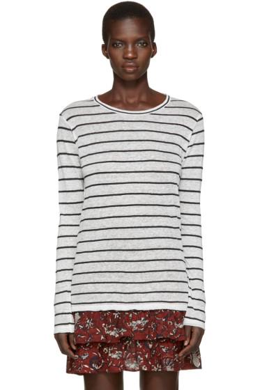 Isabel Marant Etoile - Off-White Striped Aaron T-Shirt