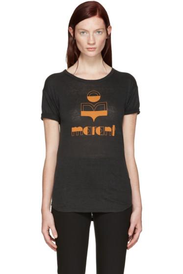 Isabel Marant Etoile - Black Kolda Logo T-Shirt