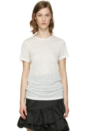 Isabel Marant - White Madras T-Shirt