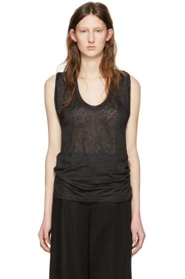 Isabel Marant - Black Linen Maik T-Shirt