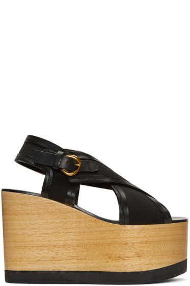Isabel Marant - Black Zlova Wedge Sandals