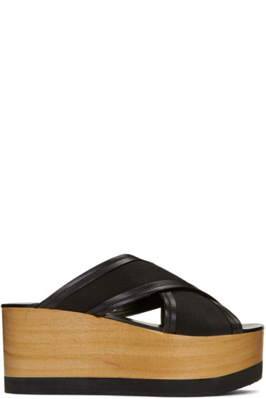 Isabel Marant - Black Zerry Wedge Sandals
