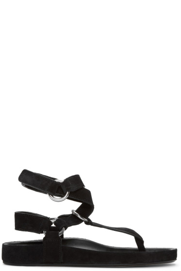 Isabel Marant - Black Suede Loig Easy Chic Sandals