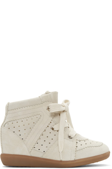 Isabel Marant - Off-White Bobby Wedge Sneakers