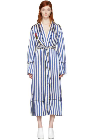 Off-White - Blue Striped Pyjama Robe