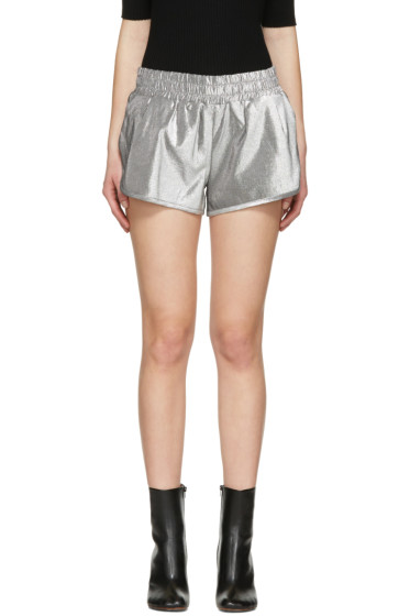 Off-White - Silver Lurex Shorts